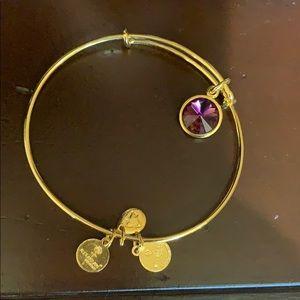 Alex and Ani amethyst bracelet gold